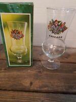 Rainforest Cafe Hurricane Cocktail Glass Souvenir in Box