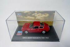 SIMCA ABARTH BERLINETTE 1300 - 1962 - Rouge -  IXO   ALTAYA 1:43