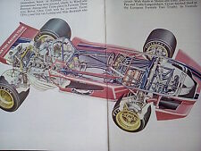1971 F1 Tecno PA123 Article Cutaway Artwork Images Pages from Book
