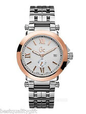 NEW GC GUESS COLLECTION 2 TWO TONE ROSE GOLD,SILVER S/S WATCH-X61004G1-MSR$610