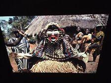 Ngere Ble-Gla Singing Mask: Ivory Coast African Tribal Art 35mm Slide