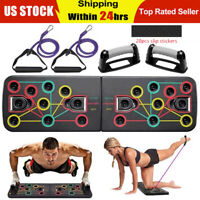 13 in 1 Push Up Board Stand Body Building Workout Set Exercise Fitness Training