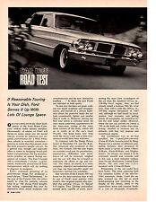 1964 FORD CUSTOM 500 4-DR SEDAN 289/195 HP ~ ORIGINAL ROAD TEST / ARTICLE / AD