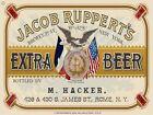 "JACOB RUPPERT'S EXTRA BEER LABEL 9"" x 12"" METAL SIGN"