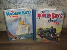 1932 & 1933 MODERN BOYS ANNUAL X 2 TRAINS PLANES N AMERICAN INDIANS FILMS *