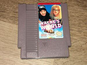 Wayne's World Nintendo Nes Cleaned & Tested Authentic