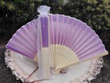 20Pcs/Lot 21cm Party Wedding Favors Gifts Purple Wedding Bridal Silk Hand Fan