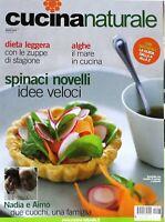 Cucina naturale marzo 2011 - dieta leggera, alghe, spinaci novelli, zuppe