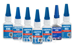 Loctite 401,403,406,410,414,415,435,460,480,495,496,4860 Sofortklebstoff Kleben