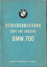 BMW 700 Coupe Limousine Betriebsanleitung 1961 Bedienungsanleitung Handbuch BA
