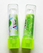 2 Vitamina E Aloe & Lápiz Labial Mate Bálsamo de capa superior transparente