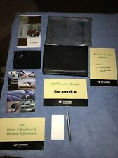 2007 Hyundai Santa Fe Owners Manual Set With Clear Plastic