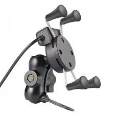 Telefono da moto mount, LESHP UNIVERSALE X-Grip clamp supporto per moto/bic