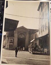 Foto originale del 1930 di Lugo di Romagna scattata davanti albergo San Marco