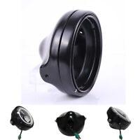 "7"" Black Aluminum Motorcycle Headlight Cover Housing Holder For FXWG FXDWG  FXST"