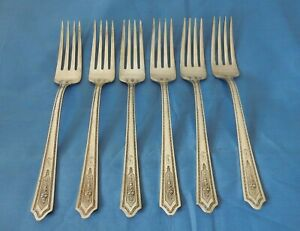Stratford International Silver Silverplate 1927 Carmen Dinner Forks - 6