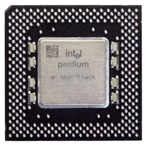 Intel Pentium i200 SY044 200MHz/66MHz Socket/Sockel 7 CPU FV80502200 Processor
