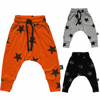 Kids Boys Girls Toddlers Harem Pants Star Print Trousers Sweat Pants Baby 2-7Yrs