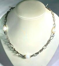 David Yurman South Sea Pearl Silver & 18K Necklace, 16""
