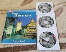 BERLITZ BASIC GERMAN COURSE BOOK AND 3 DISKS