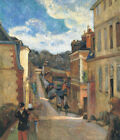 Cityscape Painting Print Decor CANVAS Rue Jouvenet In Rouen Paul Gauguin Small