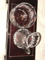 Wedgwood Crystal Devon Creamer and Sugar Bowl In Excellent Condition