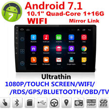 "Ultra thin Android 7.1 10.1"" 1080P 2Din Touch Screen Core 1+16G Car Stereo Radio"