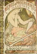 Photo A4 Alphons Mucha 1860 1939 les menus et programmes illustres 1898 PRINT pos