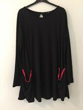 Fearne Cotton Black & Pink Over-Sized Smock Top With Pockets Size 16