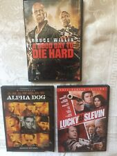 LOT OF 3 BRUCE WILLIS DVD's A Good Day to Die Hard DVD, ALPHA DOG,LUCKY #SLEVIN
