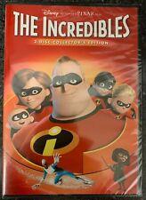 New Disney Pixar The Incredibles Dvd 2 Disc Collectors Edition Free World Shippi