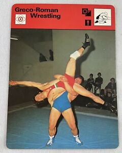 1977-79 Sportscaster Card-Greco-Roman Wrestling (#14-05)-with a French Origin!