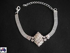 Womens Bridal Wedding Bracelet Rhinestone