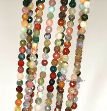 """3MM SANCTUARY INDIAN AGATE GEMSTONE FACETED ROUND 3MM LOOSE BEADS 16"""""""