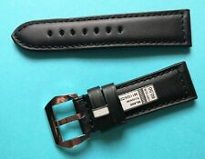 Watch Band 0 15/16in Black Compatible Panerai Watertight With Screw Buckle