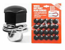 19mm Hex Black Plastic Car Alloy Wheels Wheel Nut / Bolt Head 20 Caps Covers Set