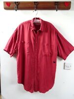 VINTAGE 80s cool PURE SILK over sized  mens/ladies unisex REPAIRED shirt M