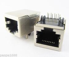 200x CAT5 Modular Network RJ45 59 8P8C PCB Female Jack Connector Metal House UK