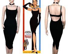 DOLCE GABBANA D&G Vintage 1990s Negro & Lana Audrey Hepburn Vestido Talla 8 6 40