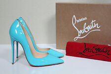 New 5 / 35 Christian Louboutin Aqua Blue Patent So Kate Pointed Toe Pump Shoes