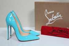 New 5 / 35 Christian Louboutin Aqua Blue Patent So Kate Pointed Toe Pump Shoes