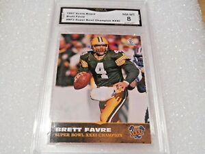 Brett Favre GRADED CARD!! 1997 Score Board #BF2 Insert Packers HOFer!! 1%-8