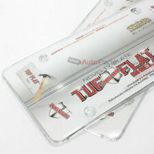 2 Clear Tough License Plate Tag Frame Cover Shields Protector for Auto-Car-Truck