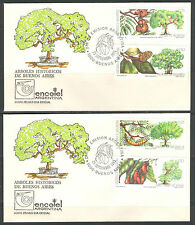 ARGENTINA 1993, FAMOUS TREES OF BUENOS AIRES, Scott 1801-1804 on 2 FDC's