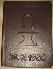 Cartella in Pelle Decorativa tra l'altro 70. compleanno di un fabbro donzella Dresda 1953