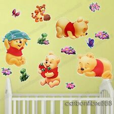 Baby Winnie The Pooh Nursery Wall Stickers Children Kids Bedroom Decor Nursery