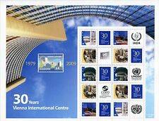 United Nations UN Personalized Sheet Stamp S32 30th Anniv Version 2 Vienna 2009
