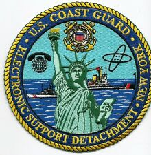 """Uscg patch """"Electronic Support Detachment"""" New York"""" 5 inch diameter"""