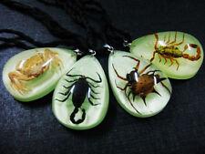 12pcs golden scorpion,black scorpion,carb,spider Mini glow drop magic pendant