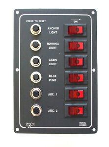 Circuit breaker switch panel 6 way    SEADOG   10-10228